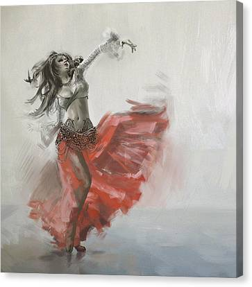 Belly Dancer 4 Canvas Print by Corporate Art Task Force