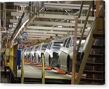 Car Assembly Production Line Canvas Print