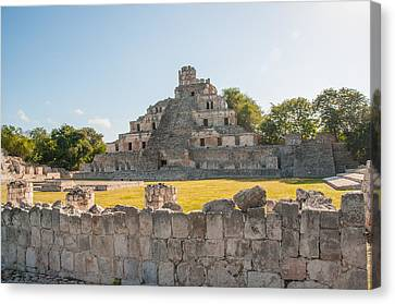 Edzna In Campeche Canvas Print by Carol Ailles