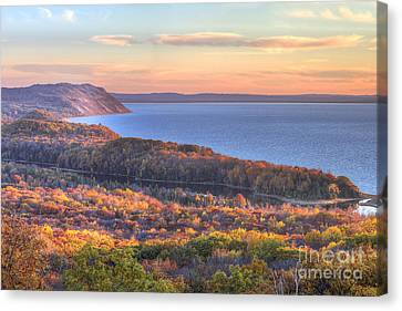 Fall In Sleeping Bear Dunes Canvas Print by Twenty Two North Photography