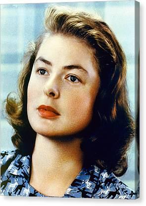 Ingrid Bergman Canvas Print by Silver Screen