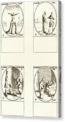 Jacques Callot, French 1592-1635 Canvas Print by Litz Collection
