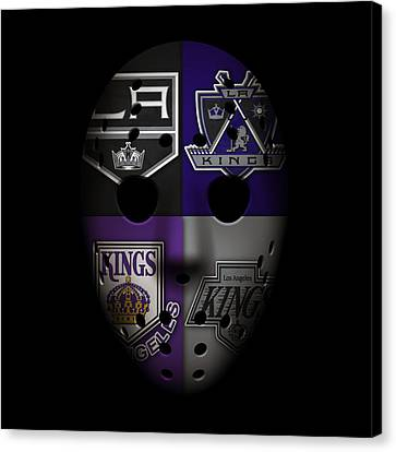 Goalie Canvas Print - Los Angeles Kings by Joe Hamilton