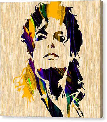 Michael Jackson Canvas Print by Marvin Blaine