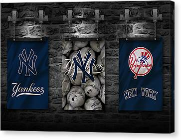 Baseball Uniform Canvas Print - New York Yankees by Joe Hamilton