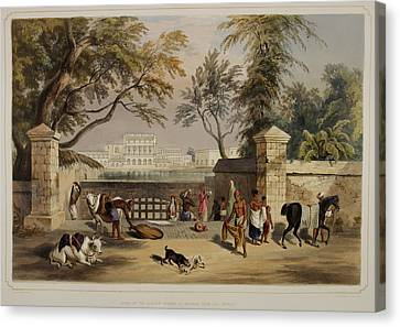 Views Of Calcutta And Its Environs Canvas Print by British Library