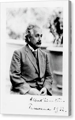 Swiss Canvas Print - Albert Einstein by Emilio Segre Visual Archives/american Institute Of Physics