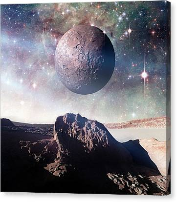 Alien Planet Canvas Print - Alien Planet by Detlev Van Ravenswaay