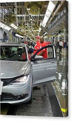 Auto Jobs Canvas Print - Car Assembly Production Line by Jim West