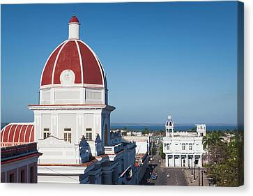 Cuba, Cienfuegos Province, Cienfuegos Canvas Print by Walter Bibikow