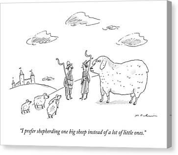 I Prefer Shepherding One Big Sheep Instead Canvas Print