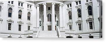 Low Angle View Of A Government Canvas Print