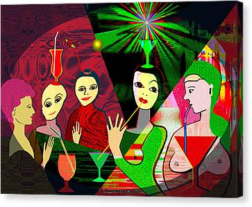 280 -  Wild Celebration   Canvas Print by Irmgard Schoendorf Welch
