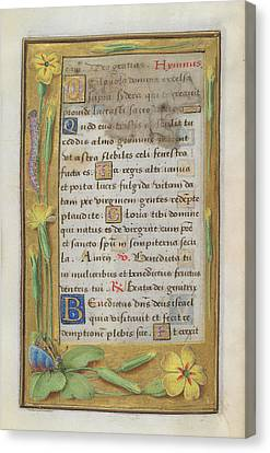 Book Of Hours Canvas Print by British Library