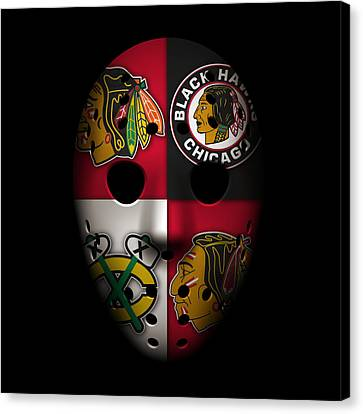 Goalie Canvas Print - Chicago Blackhawks by Joe Hamilton