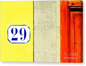 29 Comic Book Door Canvas Print