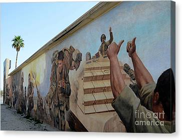 Iraq Canvas Print - 29 Palms Mural 4 by Bob Christopher