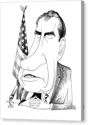 Richard Nixon (1913-1994) Canvas Print