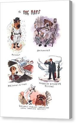New Yorker August 14th, 2000 Canvas Print by Barry Blitt