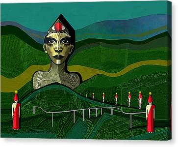 Sombre Canvas Print - 293 -  Appearance Of A New Sphinx  by Irmgard Schoendorf Welch
