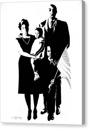 2k Black American Family Canvas Print