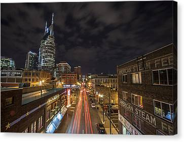 Nashville Tennessee Canvas Print - 2nd Ave And Broadway by CJ Schmit