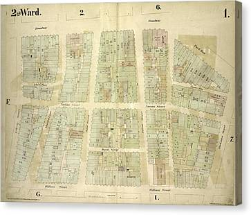 Plate 1 Canvas Print - 2nd Ward. Plate 1 Map Bounded By Broadway, Parks Row by Litz Collection