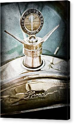 Motometer Canvas Print - 1923 Ford Model T Hood Ornament by Jill Reger
