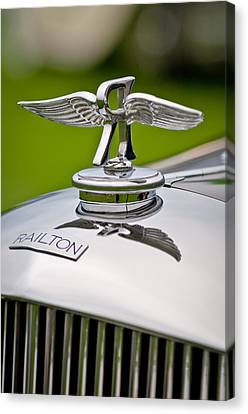 1937 Railton Rippon Brothers Special Limousine Hood Ornament Canvas Print by Jill Reger
