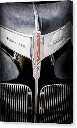 1941 Canvas Print - 1941 Studebaker Champion Hood Emblem by Jill Reger
