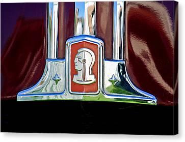 1948 Pontiac Streamliner Woodie Station Wagon Emblem Canvas Print