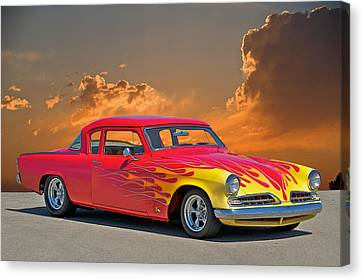 1954 Studebaker Custom Canvas Print by Dave Koontz