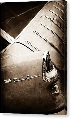 1955 Chevrolet Nomad Wagon Taillight Emblem Canvas Print by Jill Reger