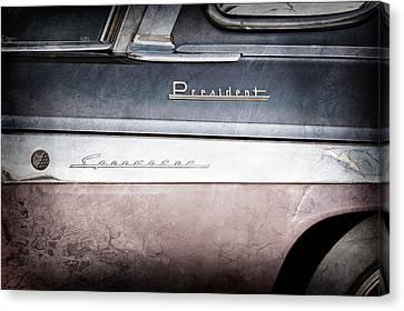 1955 Studebaker President Emblems Canvas Print