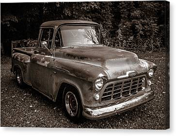 1956 Chevy 3100 Canvas Print by Mark Maloney