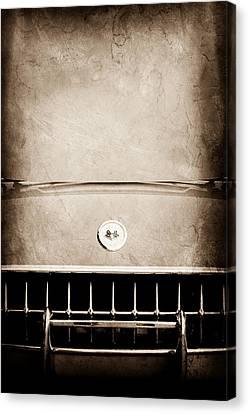 1957 Chevrolet Corvette Grille Emblem Canvas Print by Jill Reger