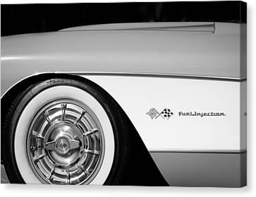 1957 Chevrolet Corvette Wheel Emblem Canvas Print by Jill Reger