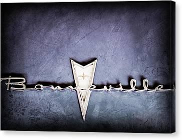 1959 Pontiac Bonneville Emblem Canvas Print