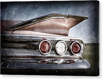 1960 Chevrolet Impala Resto Rod Taillight Canvas Print by Jill Reger