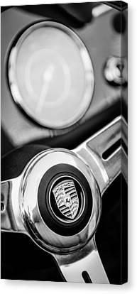 1960 Porsche 356b 1600 Roadster Steering Wheel Emblem Canvas Print by Jill Reger