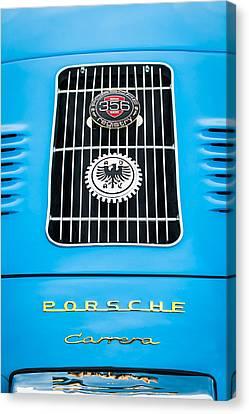 1960 Volkswagen Vw Porsche 356 Carrera Gs Gt Replica Emblem Canvas Print by Jill Reger