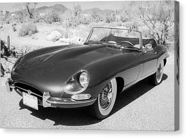 1963 Jaguar Xke Roadster Canvas Print by Jill Reger