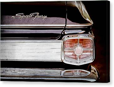 1963 Plymouth Sport Fury Taillight Emblem Canvas Print by Jill Reger