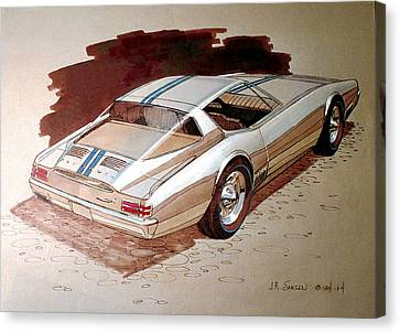 1967 Barracuda  Plymouth Vintage Styling Design Concept Rendering Sketch Canvas Print