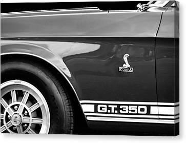 1968 Shelby Gt350 Side Emblem Canvas Print by Jill Reger