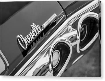 1972 Chevrolet Chevelle Taillight Emblem Canvas Print by Jill Reger