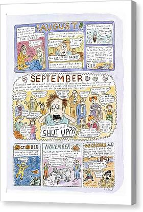 1998: A Look Back Canvas Print by Roz Chast