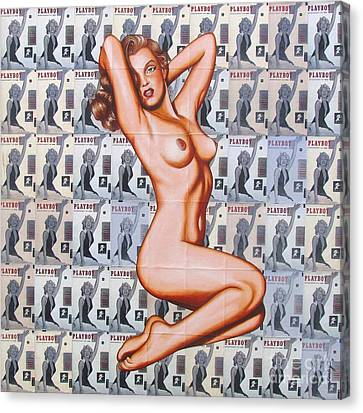 Canvas Print featuring the painting 50 Cent Sweetheart by Joseph Sonday