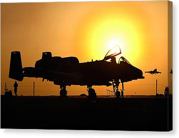 A-10 Thunderbolt II Canvas Print by Celestial Images