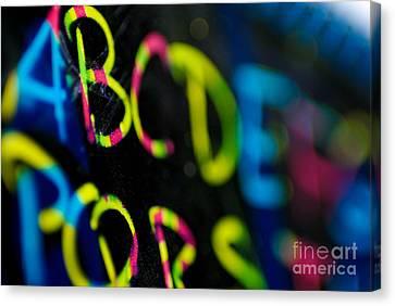 A B C D E F G Canvas Print by Amy Cicconi